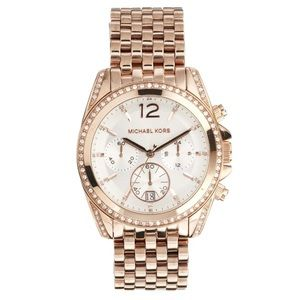 Michael Kors rose gold Pressley watch